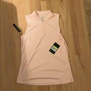 Pink sleeveless Nike Golf Shirt